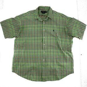 Ralph Lauren XXL Mens Button Up Shirt Short Sleeve